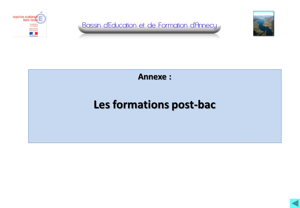 Les formations post-bac