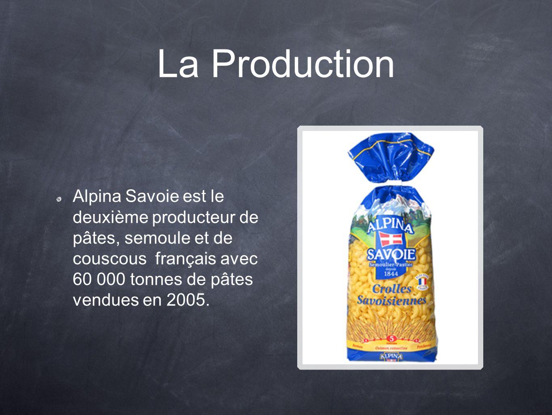 La Production Alpina Savoie est le deuxième producteur de pâtes, semoule et de couscous français avec 60 000 tonnes de pâtes vendues en 2005.