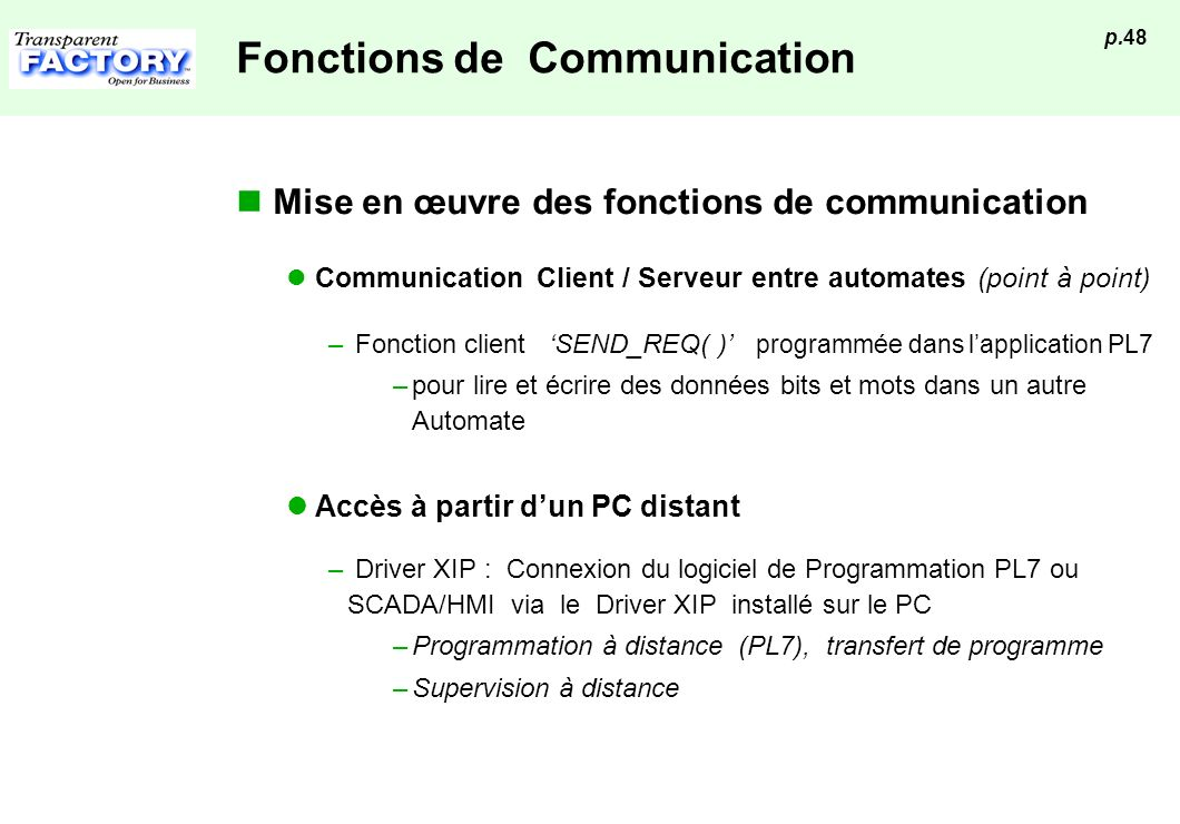 Fonctions de Communication