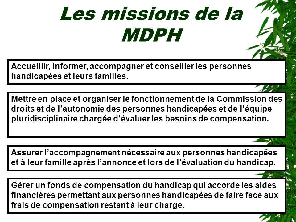 Les missions de la MDPHAccueillir, informer, accompagner et conseiller les personnes handicapées et leurs familles.