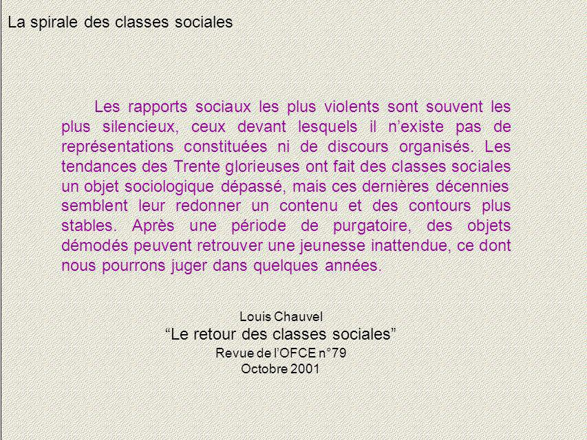 Le retour des classes sociales
