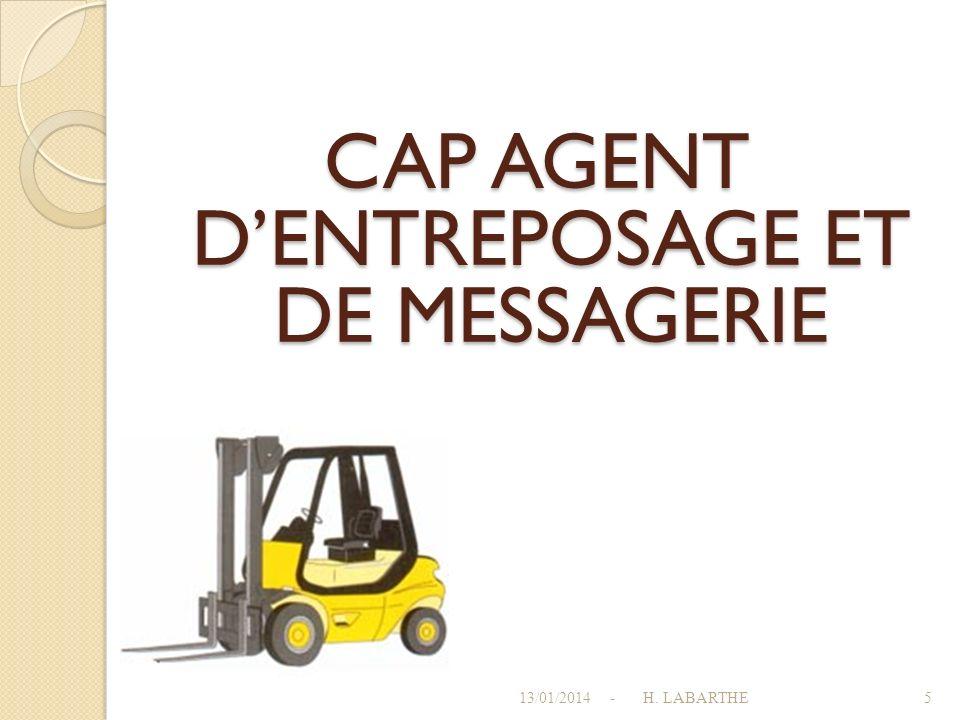 CAP AGENT D'ENTREPOSAGE ET DE MESSAGERIE
