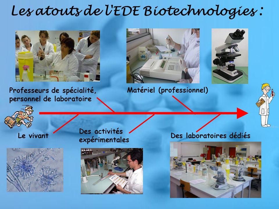 Les atouts de l EDE Biotechnologies :