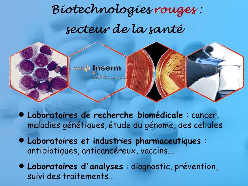 Biotechnologies rouges : secteur de la santé