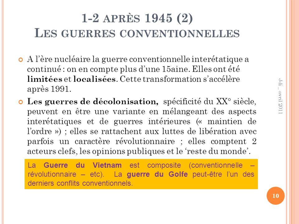 1-2 après 1945 (2) Les guerres conventionnelles