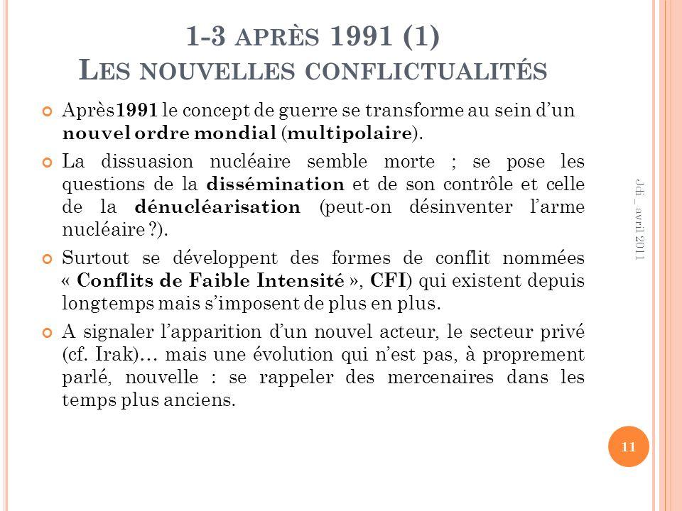 1-3 après 1991 (1) Les nouvelles conflictualités