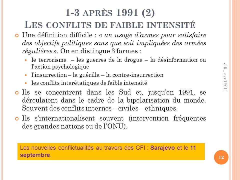 1-3 après 1991 (2) Les conflits de faible intensité