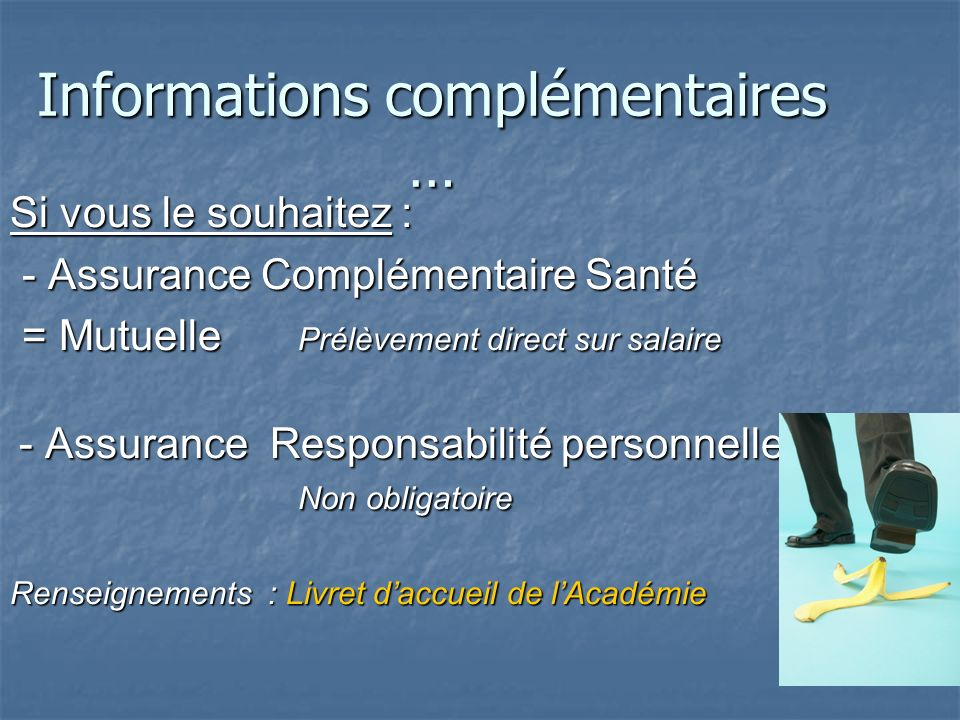 Informations complémentaires …