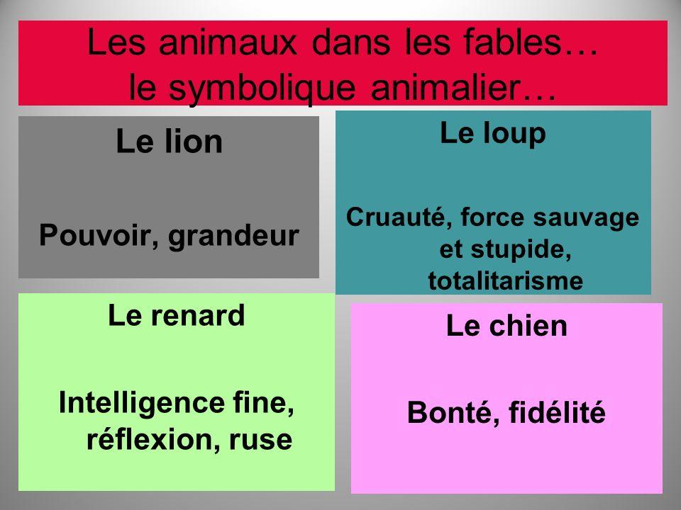 Les animaux dans les fables… le symbolique animalier…
