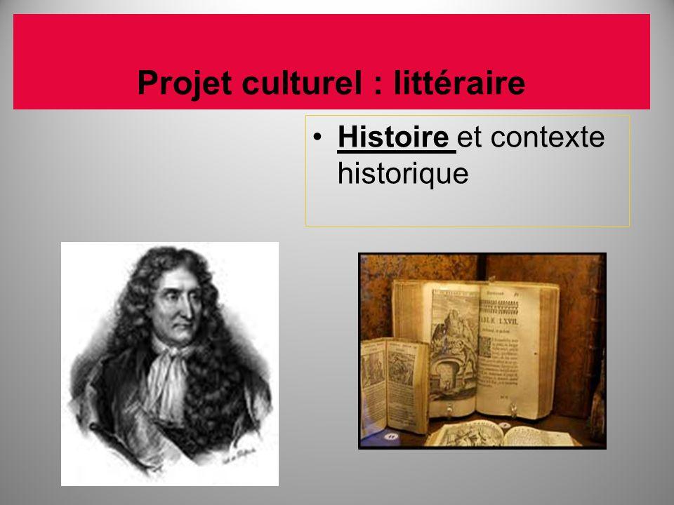 Projet culturel : littéraire