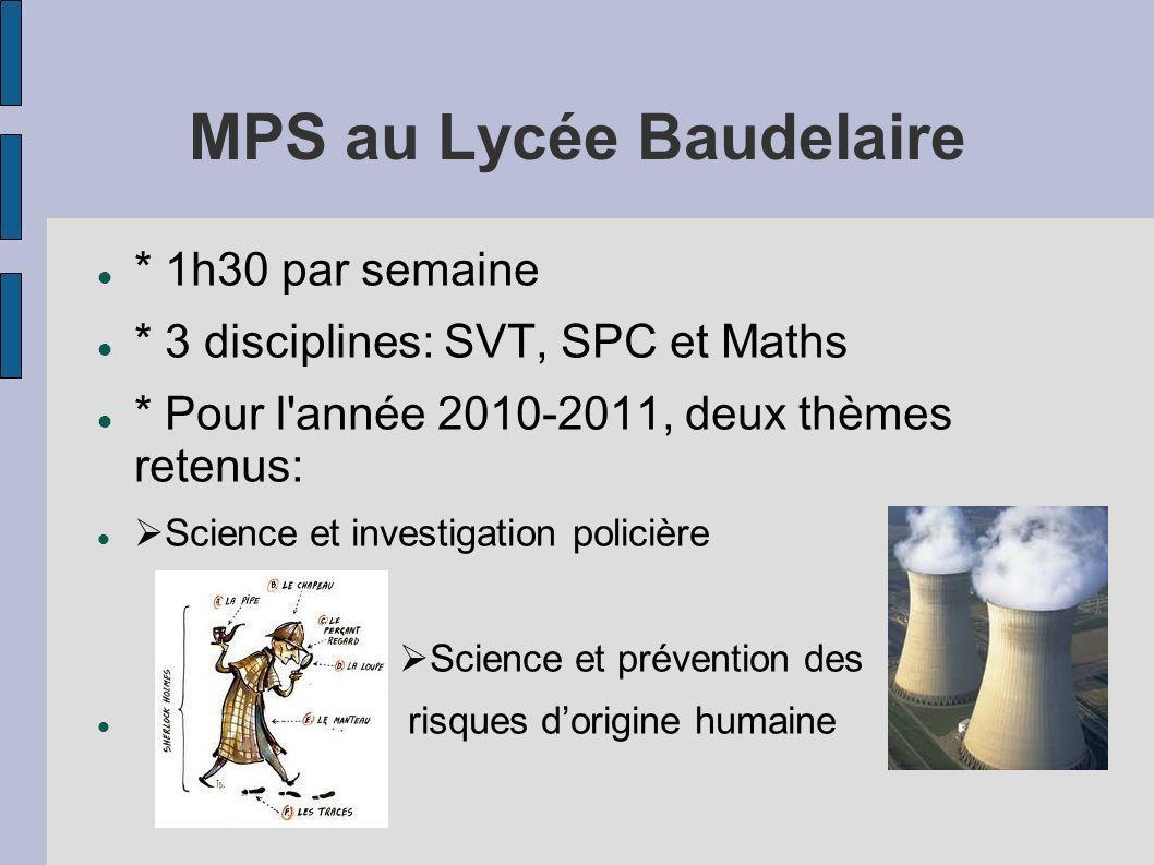 MPS au Lycée Baudelaire