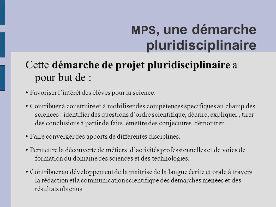 MPS, une démarche pluridisciplinaire