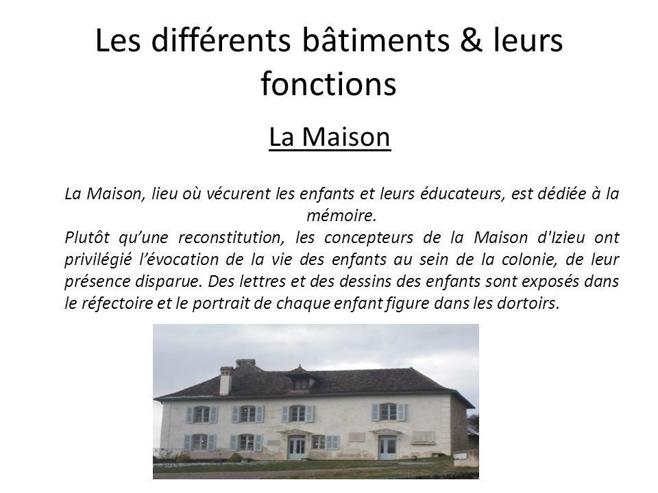 Les différents bâtiments & leurs fonctions
