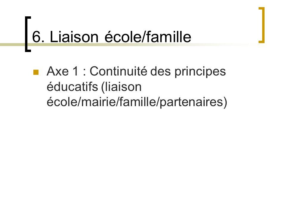 6. Liaison école/famille