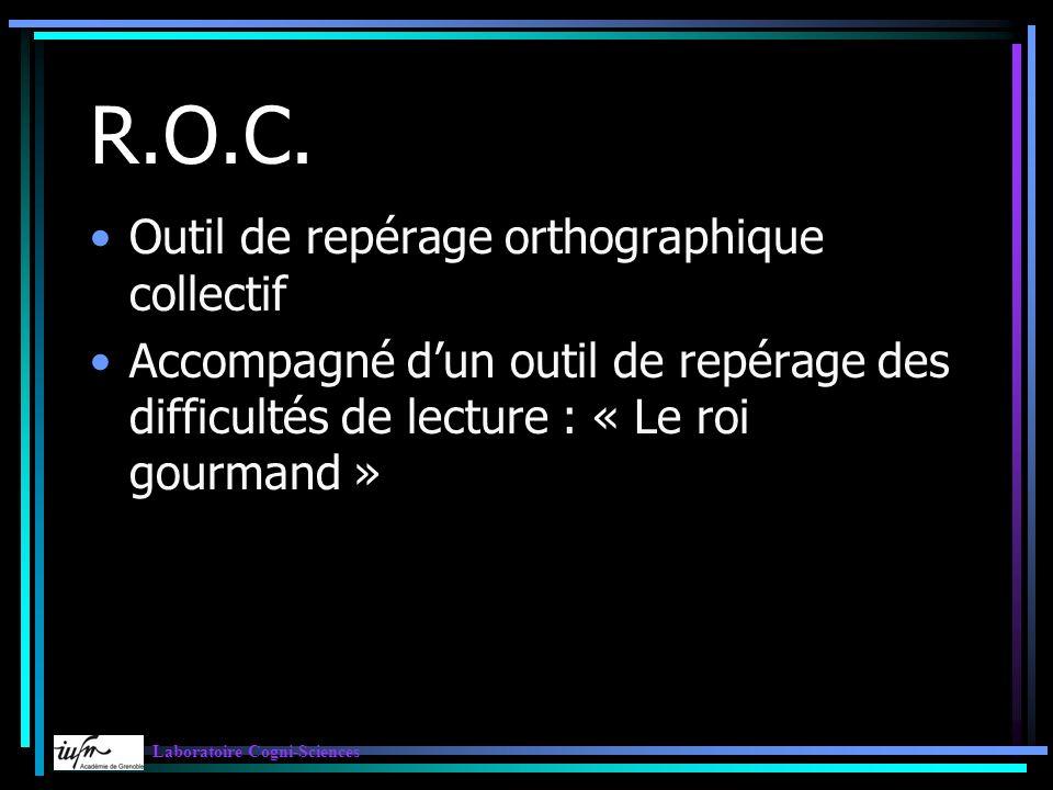 R.O.C. Outil de repérage orthographique collectif