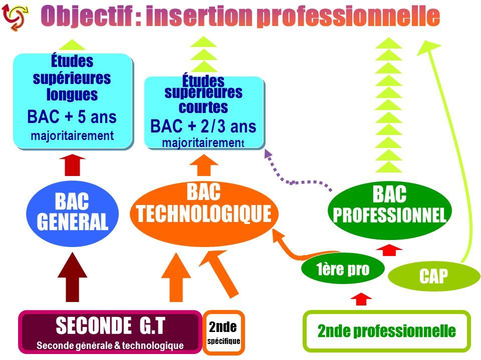 Objectif : insertion professionnelle Seconde générale & technologique