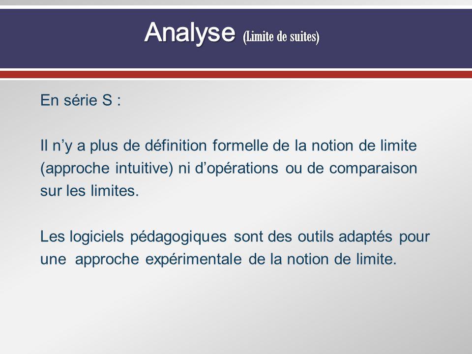 Analyse (Limite de suites)