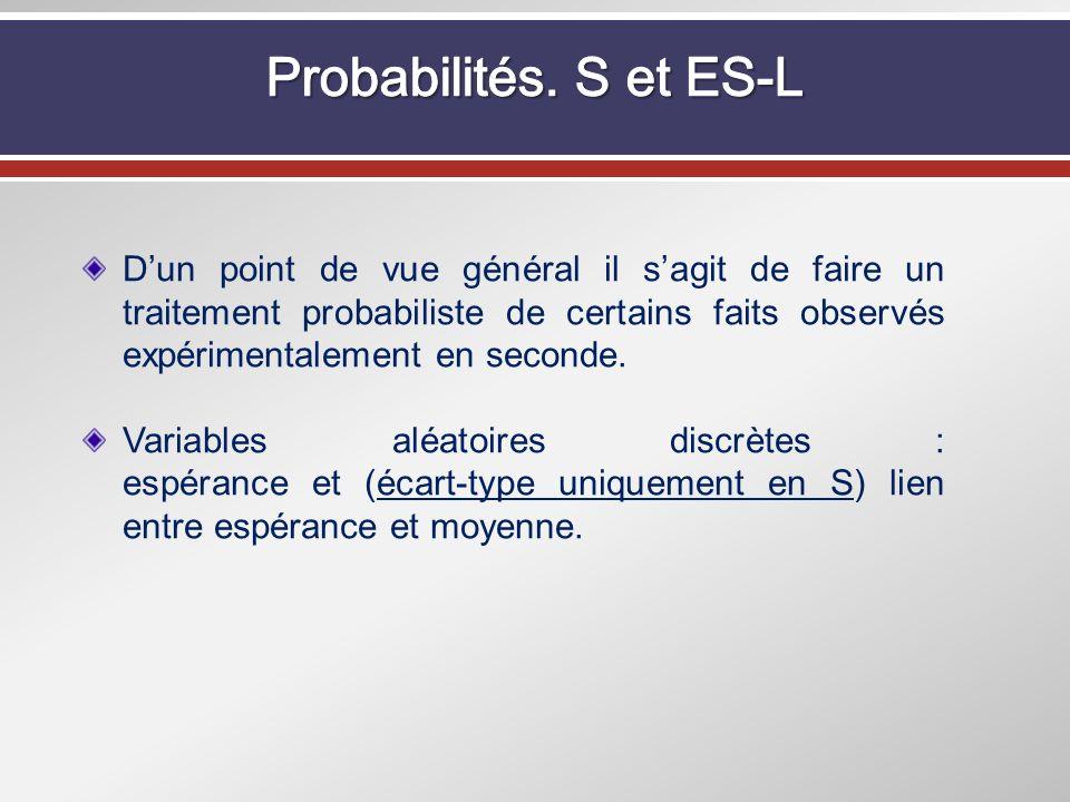 Probabilités. S et ES-L