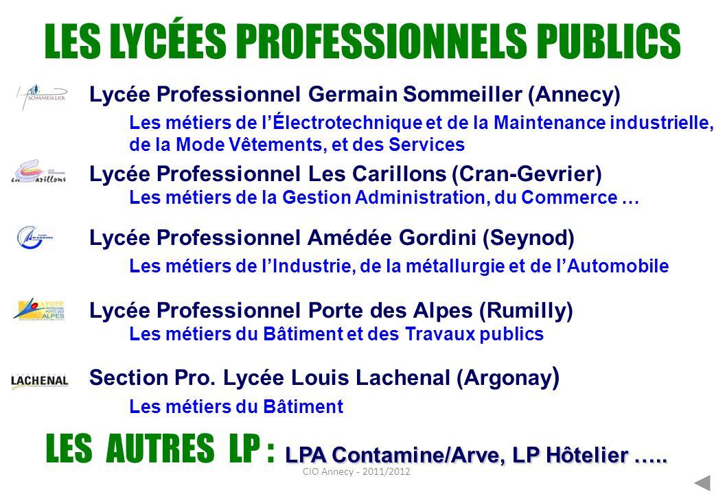 LES LYCÉES PROFESSIONNELS PUBLICS