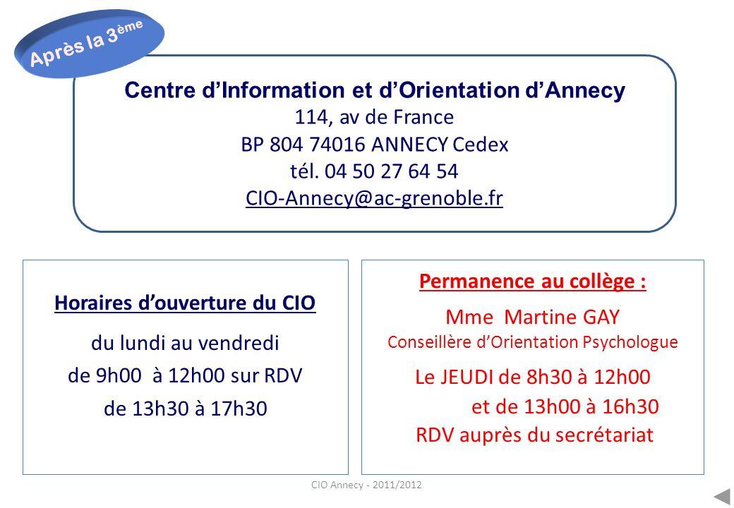 Centre d'Information et d'Orientation d'Annecy