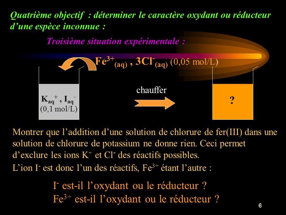 Fe3+(aq) , 3Cl-(aq) (0,05 mol/L)