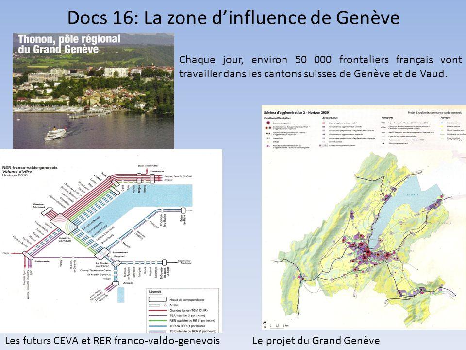 Docs 16: La zone d'influence de Genève