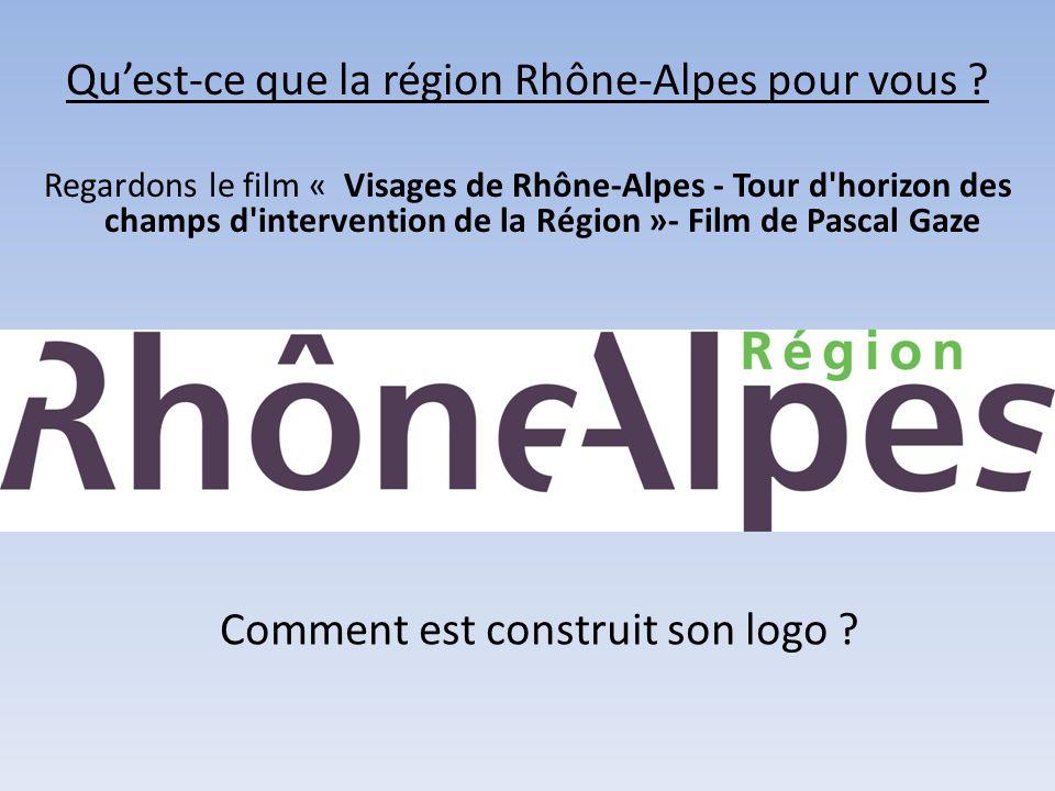 Qu'est-ce que la région Rhône-Alpes pour vous