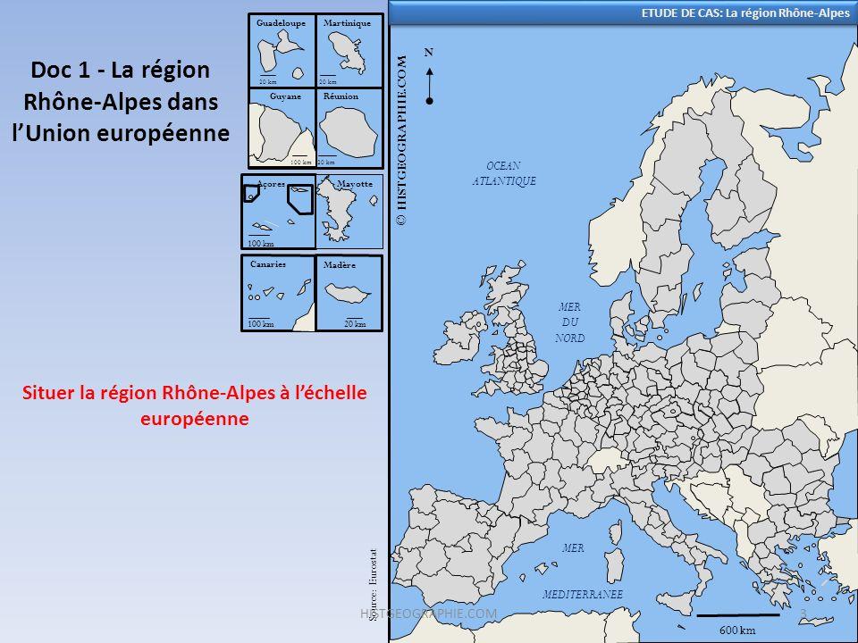 Doc 1 - La région Rhône-Alpes dans l'Union européenne