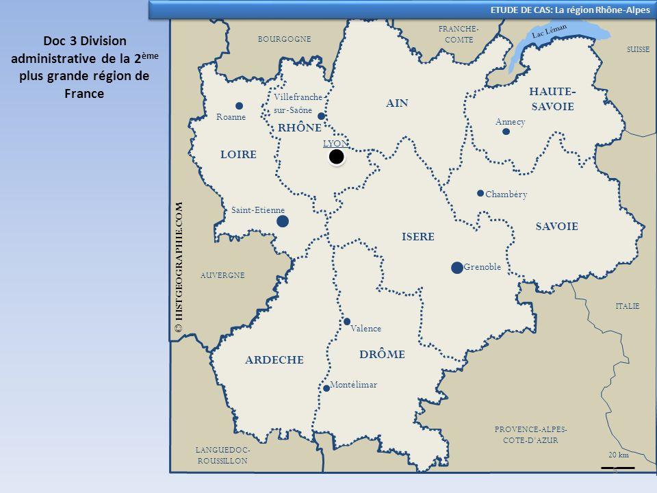 Doc 3 Division administrative de la 2ème plus grande région de France