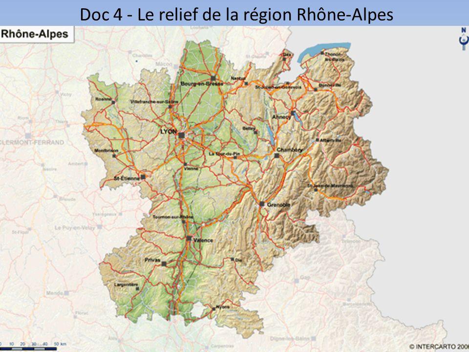 Doc 4 - Le relief de la région Rhône-Alpes