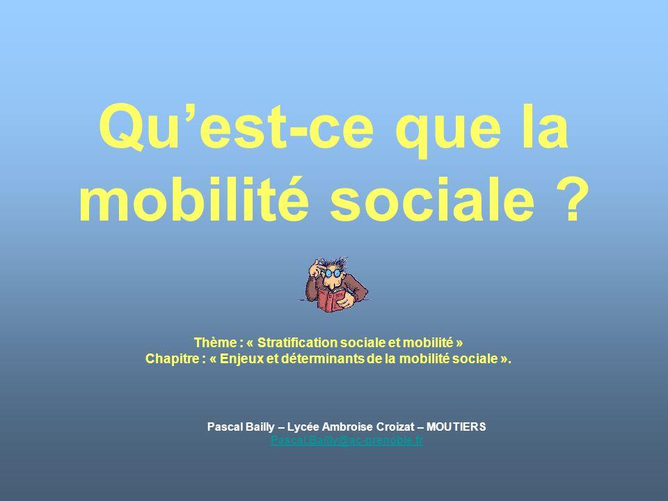 Qu'est-ce que la mobilité sociale