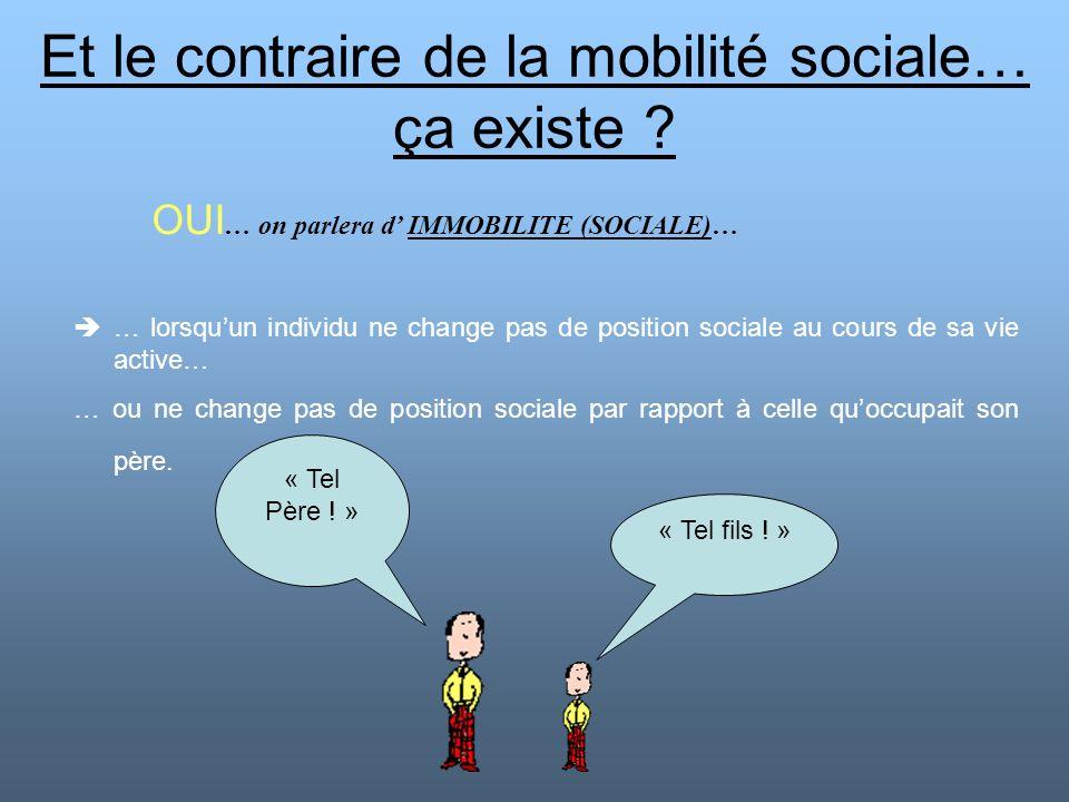 Et le contraire de la mobilité sociale… ça existe