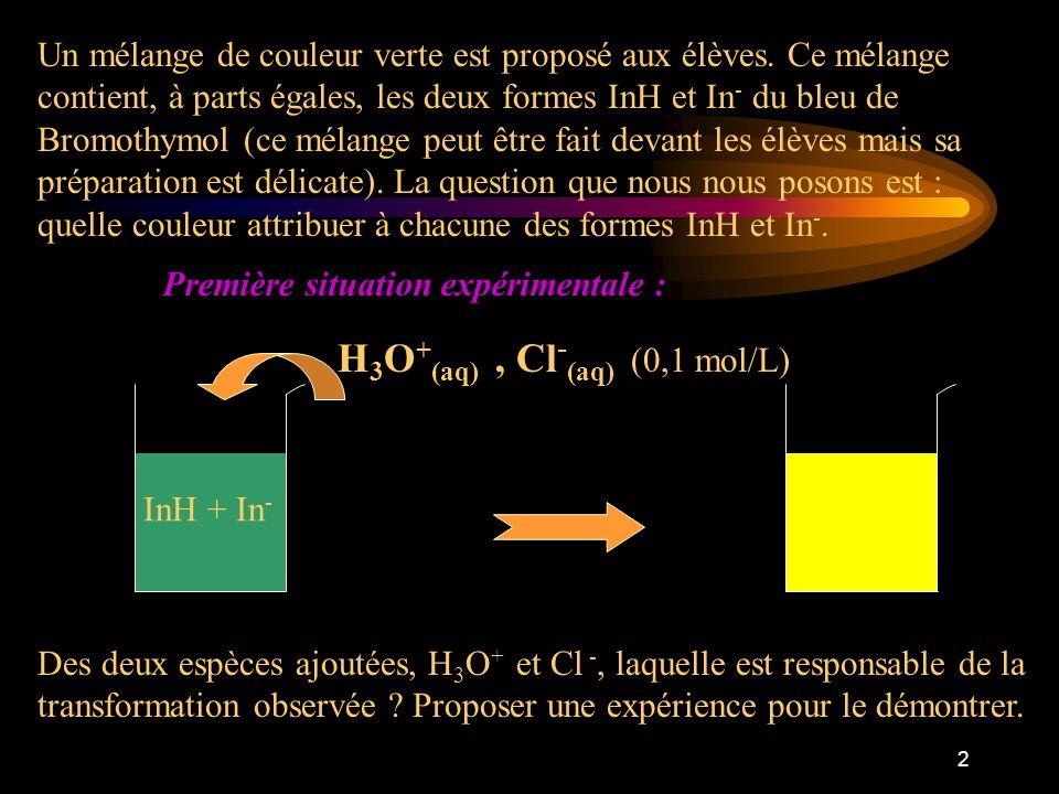 H3O+(aq) , Cl-(aq) (0,1 mol/L)
