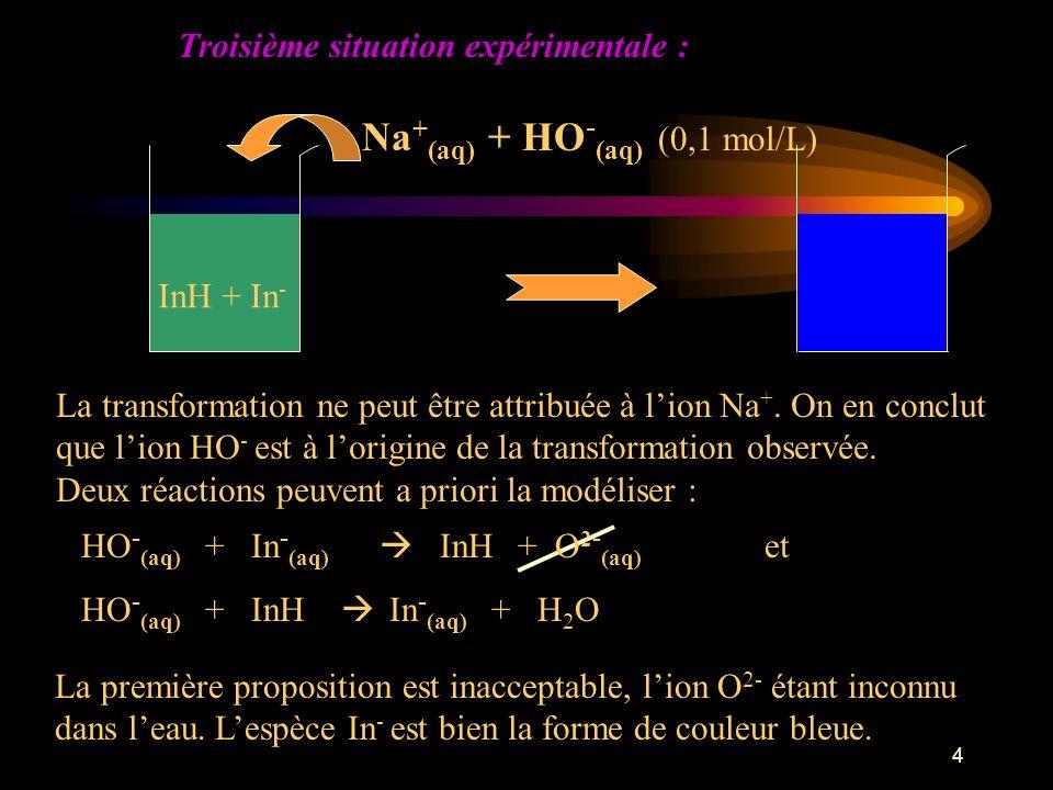 Na+(aq) + HO-(aq) (0,1 mol/L)