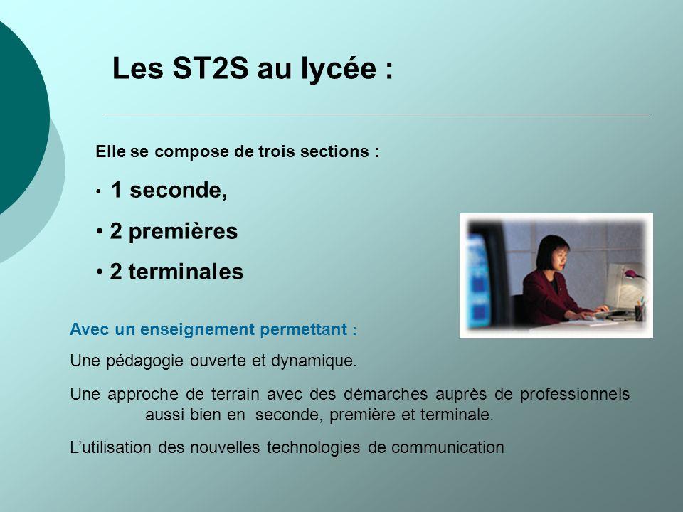 Les ST2S au lycée : 2 premières 2 terminales
