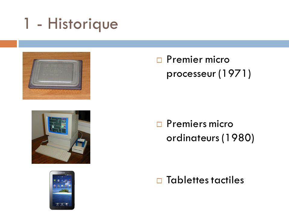 1 - Historique Premier micro processeur (1971)
