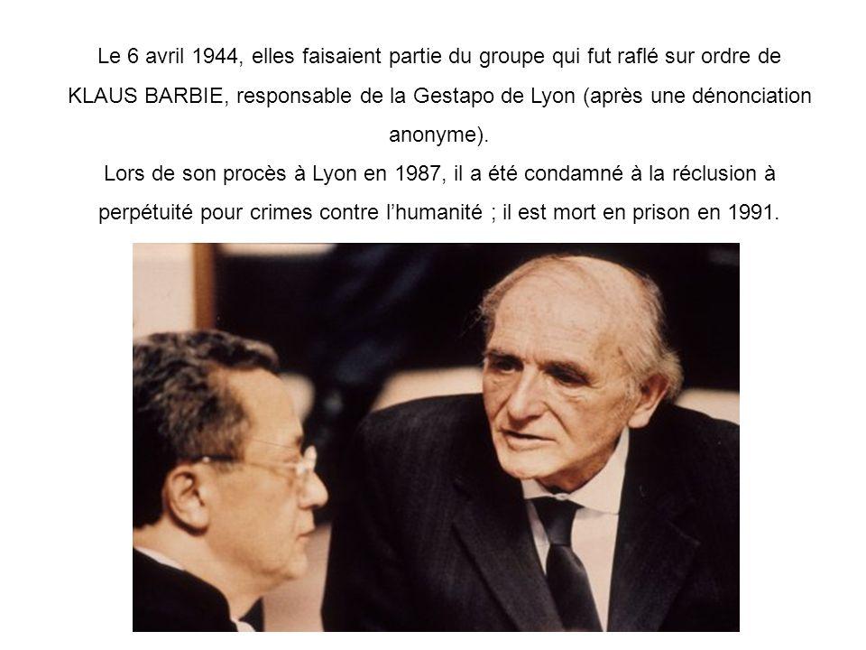 Lors de son procès à Lyon en 1987, il a été condamné à la réclusion à