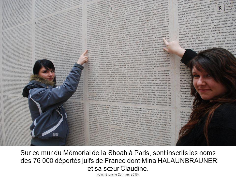 Sur ce mur du Mémorial de la Shoah à Paris, sont inscrits les noms