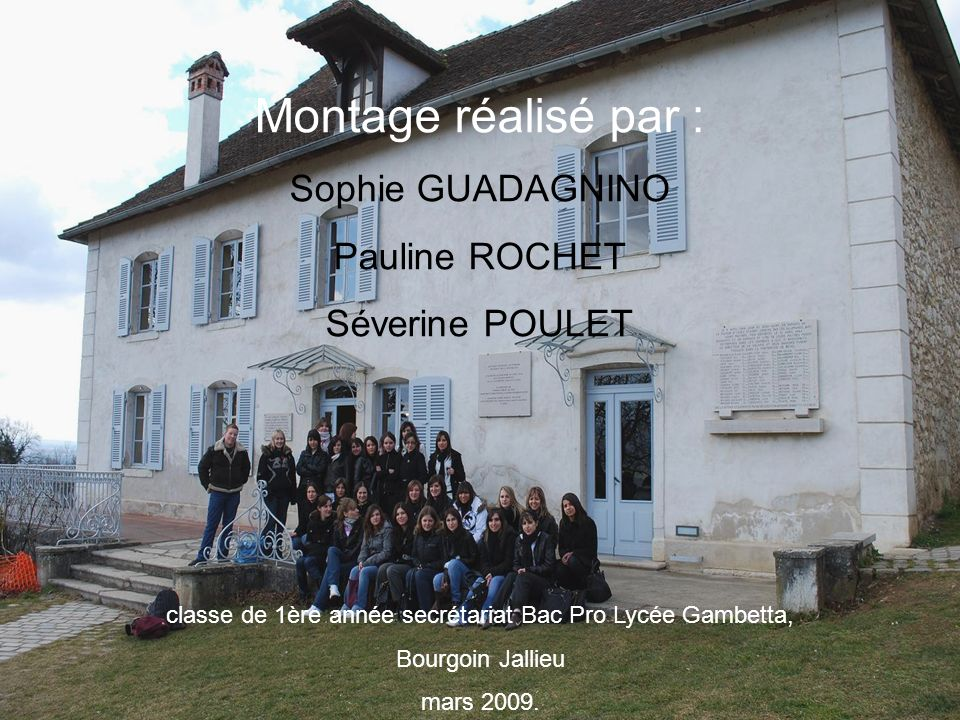 classe de 1ère année secrétariat Bac Pro Lycée Gambetta,