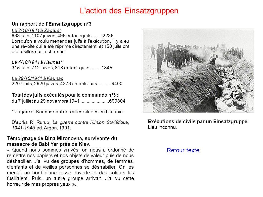 L action des Einsatzgruppen