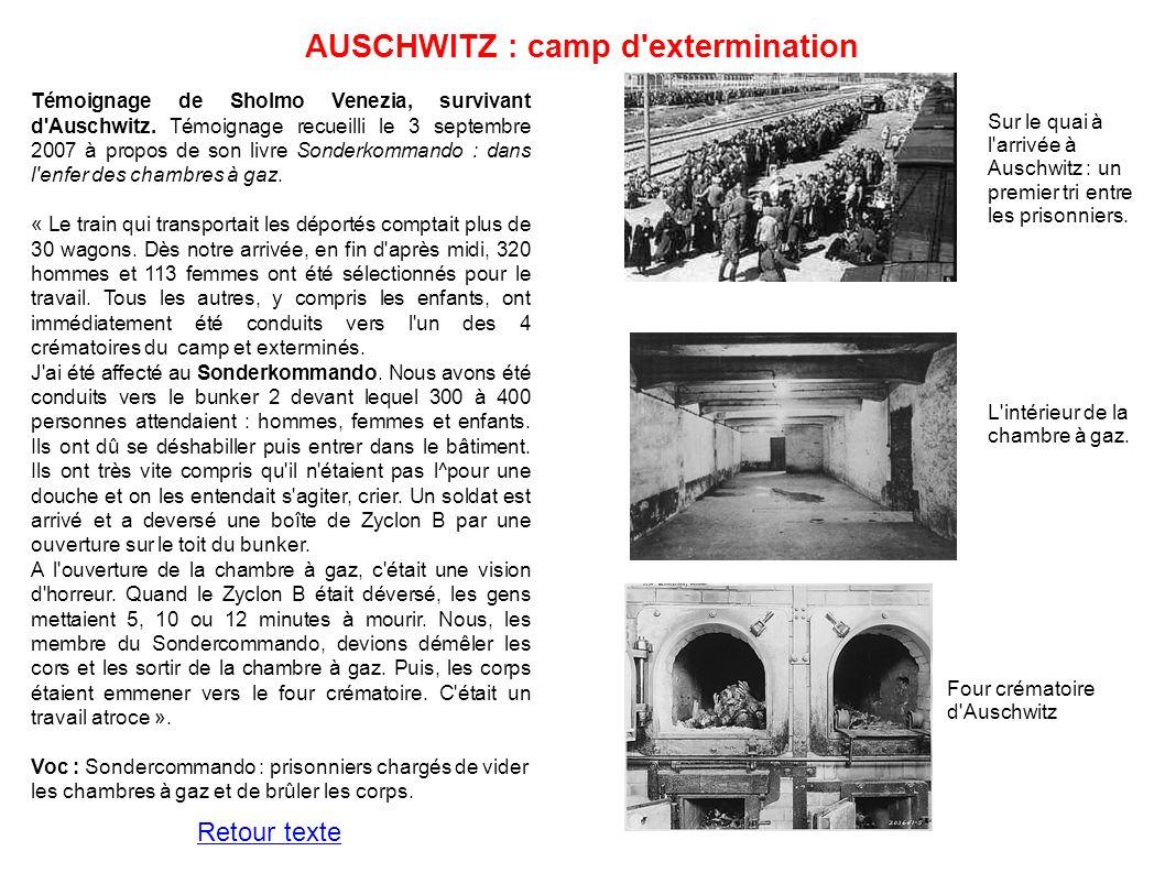 AUSCHWITZ : camp d extermination