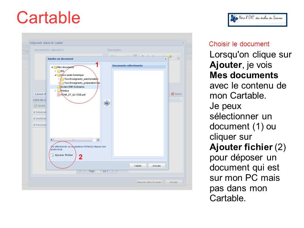 CartableChoisir le document.