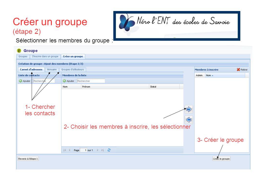 Créer un groupe (étape 2)