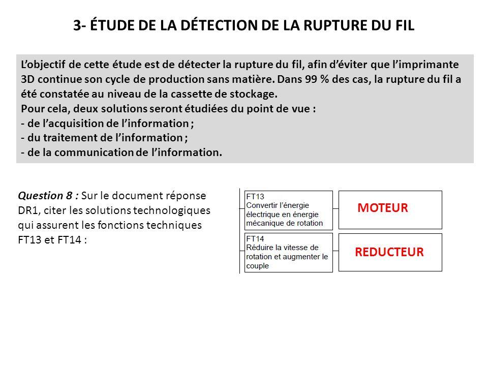 3- ÉTUDE DE LA DÉTECTION DE LA RUPTURE DU FIL