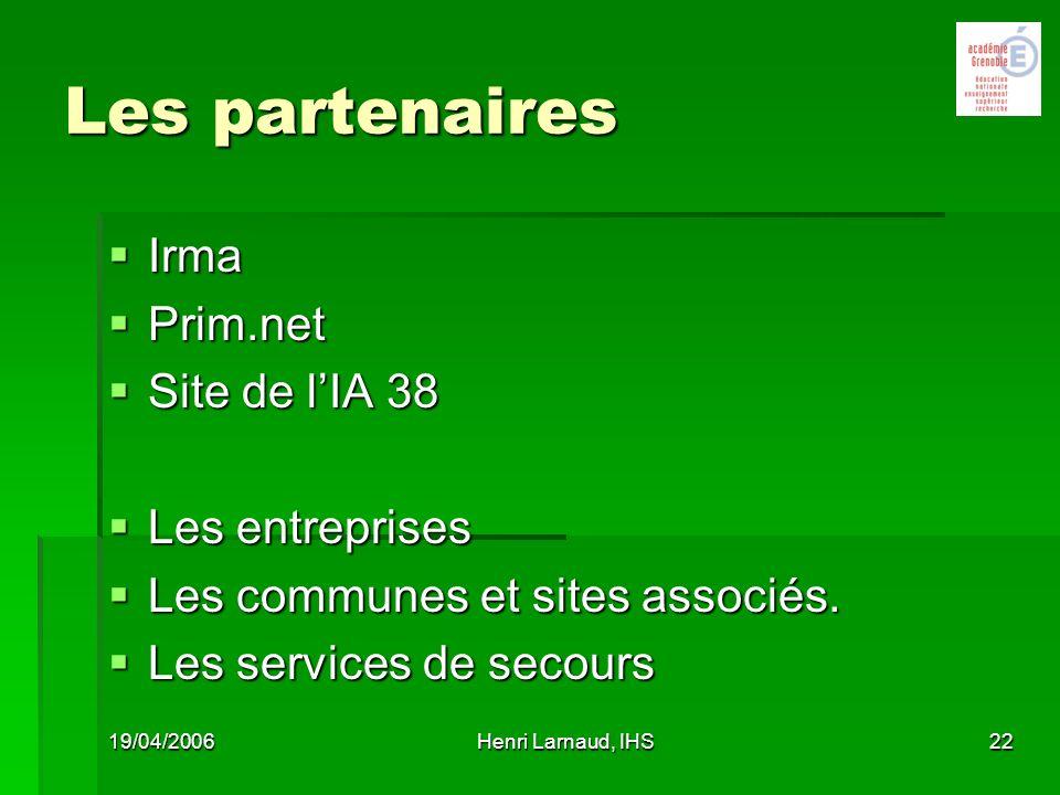 Les partenaires Irma Prim.net Site de l'IA 38 Les entreprises