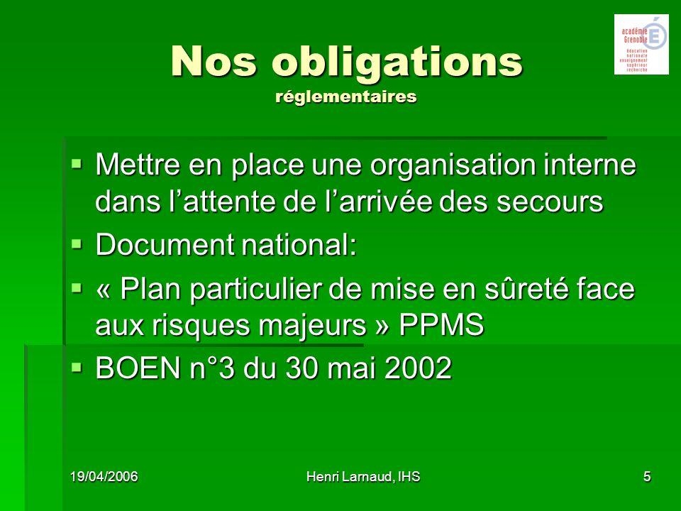 Nos obligations réglementaires