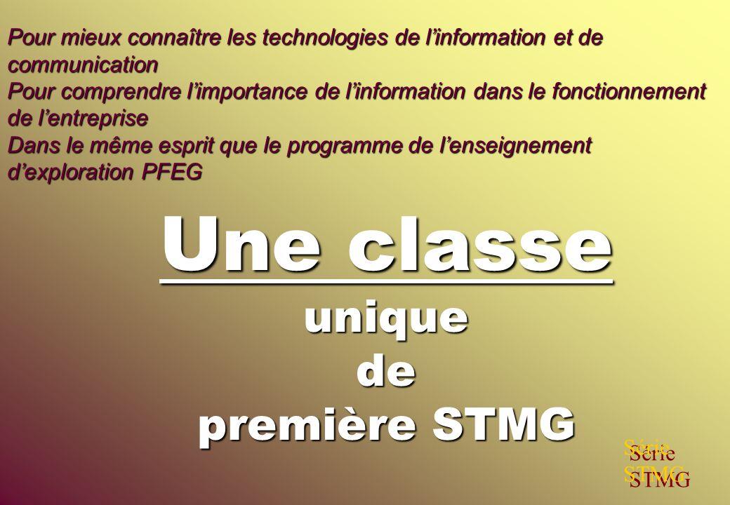 Une classe unique de première STMG