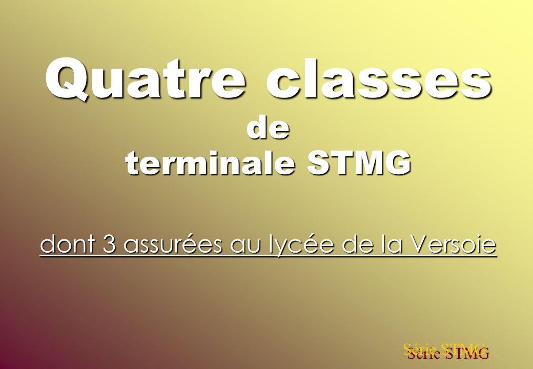 Quatre classes de terminale STMG dont 3 assurées au lycée de la Versoie