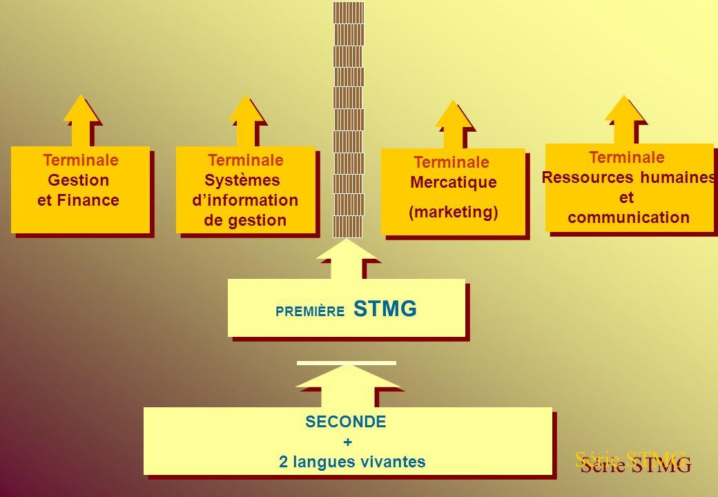Série STMG Terminale Gestion et Finance Terminale Systèmes