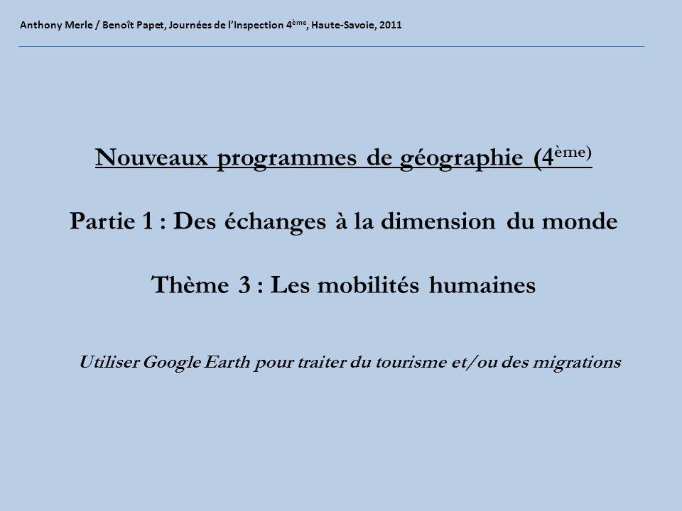 Nouveaux programmes de géographie (4ème)